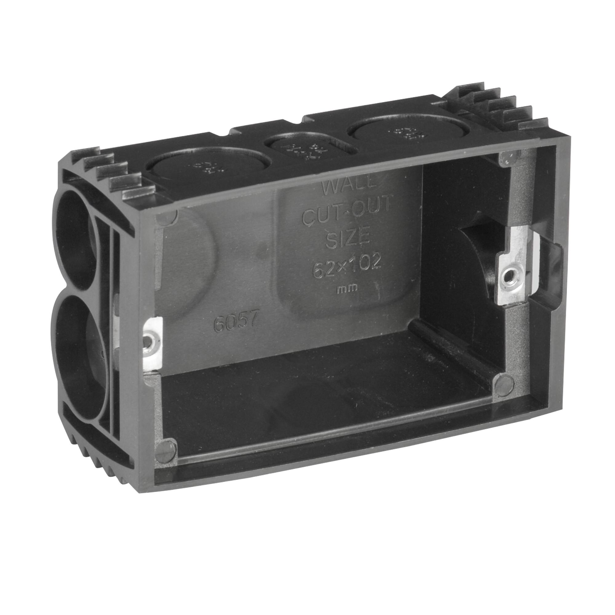 Wall mount box adjustable lugs