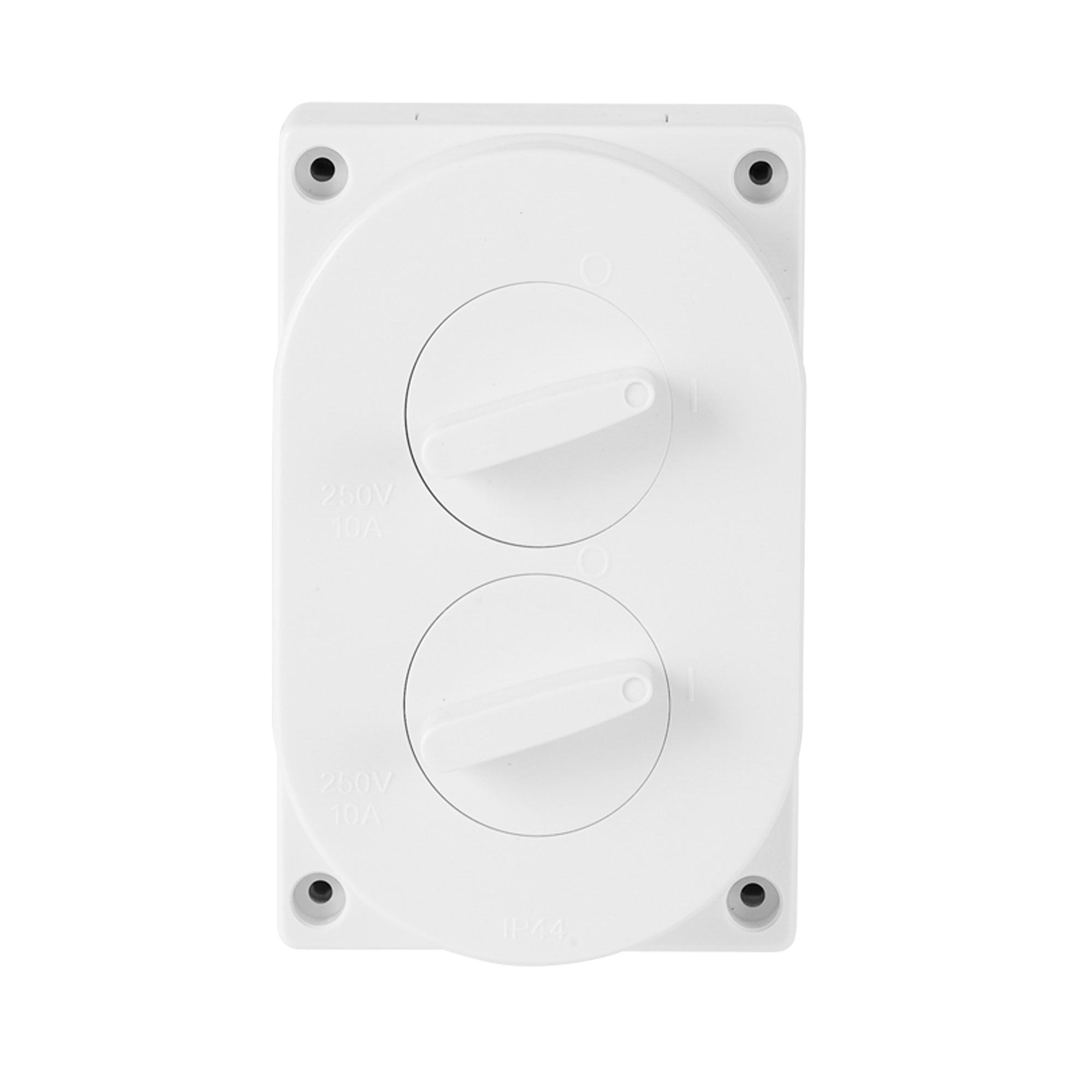 2 gang weatherproof switch