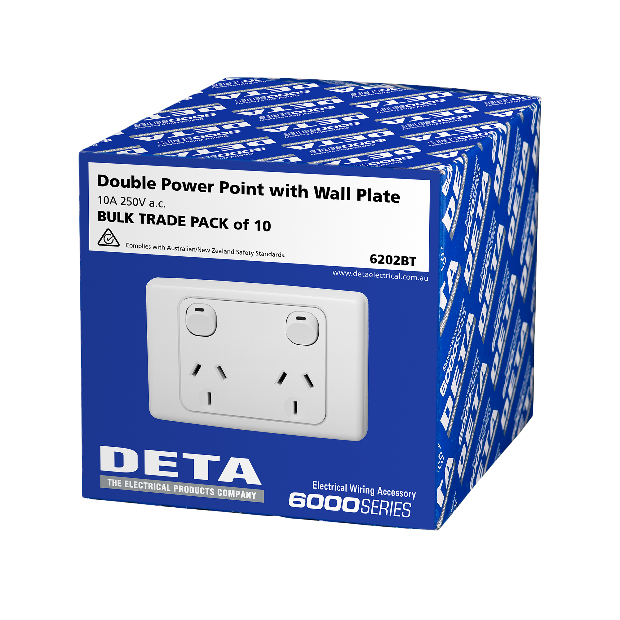 Product Lists Deta Electrical Wiring Power Outlet Australia Double Point 10 Pack