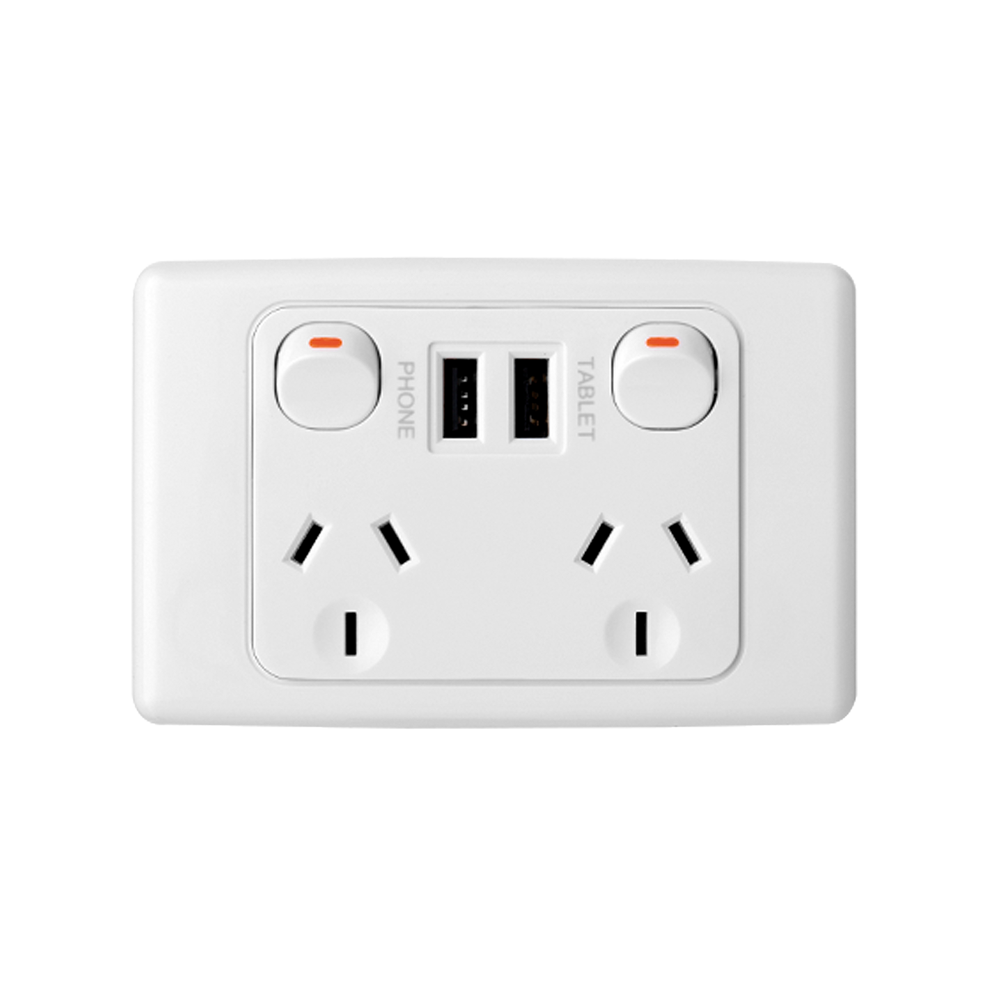 10a double outlet dual usb
