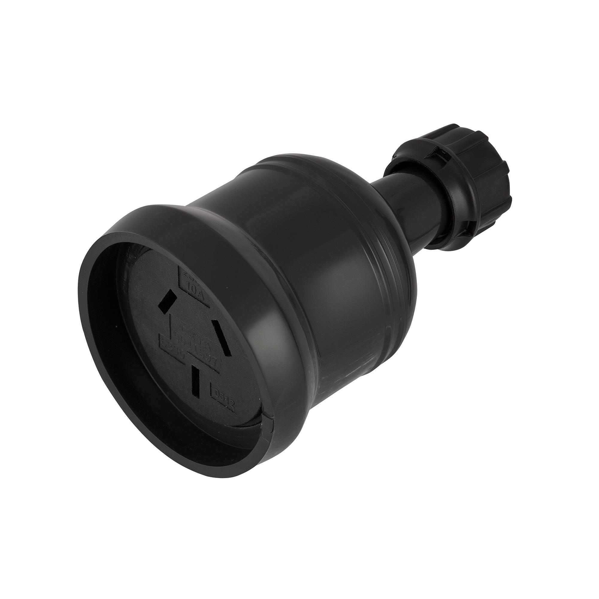 10amp black extension socket