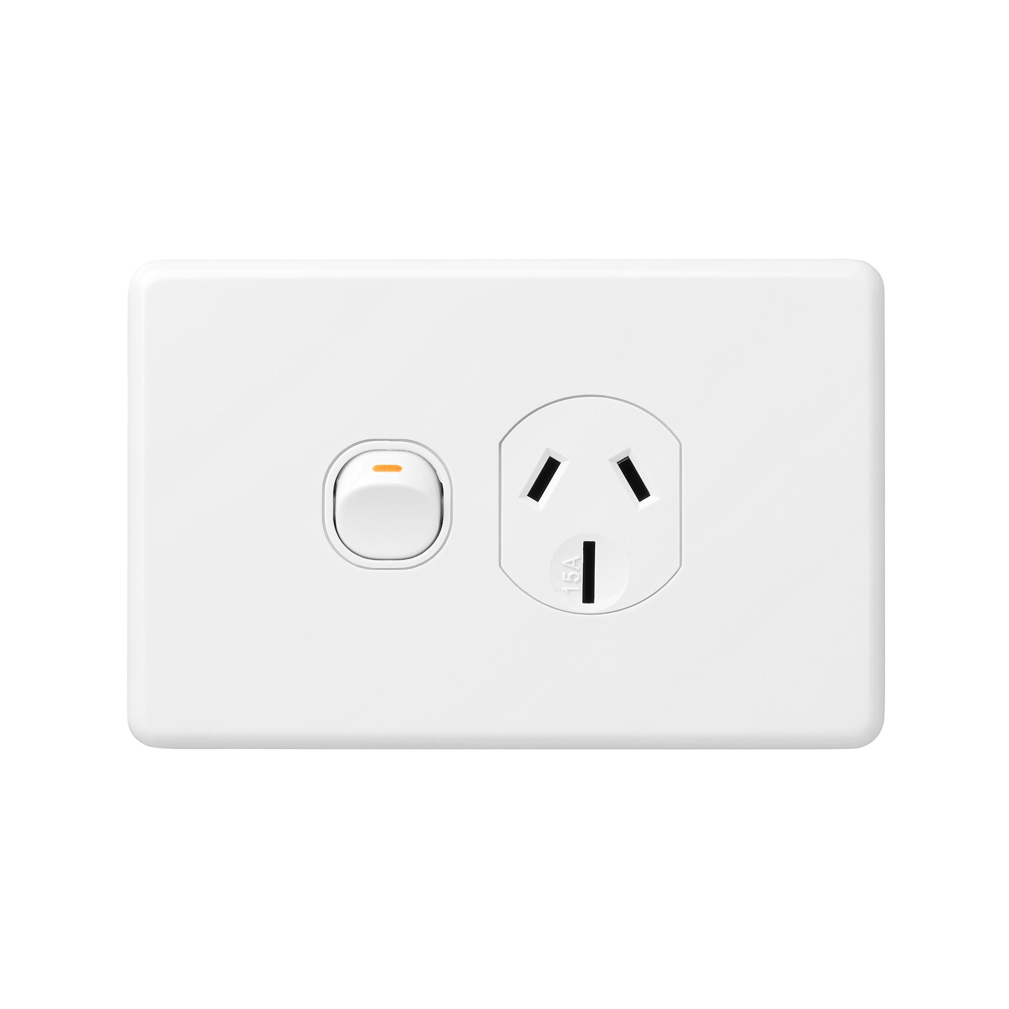 x6 15 amp single power point