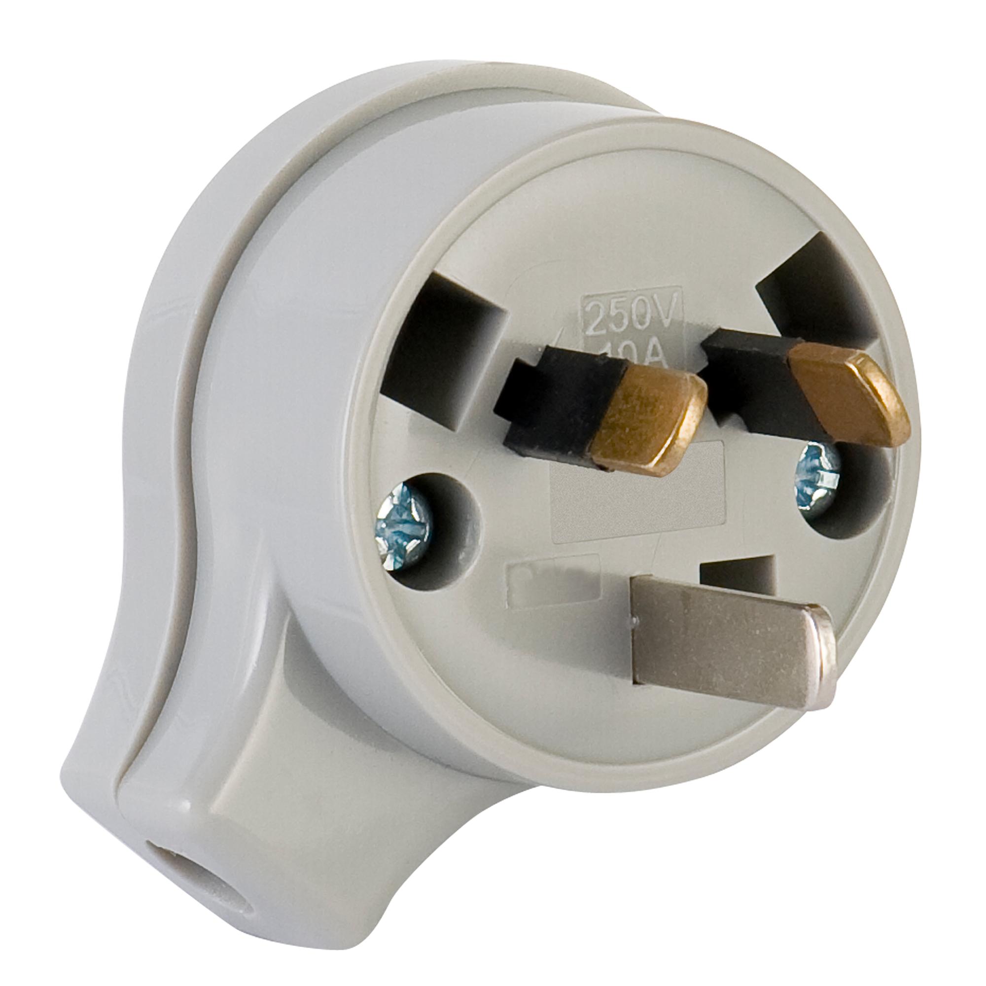 10a grey side entry plug top