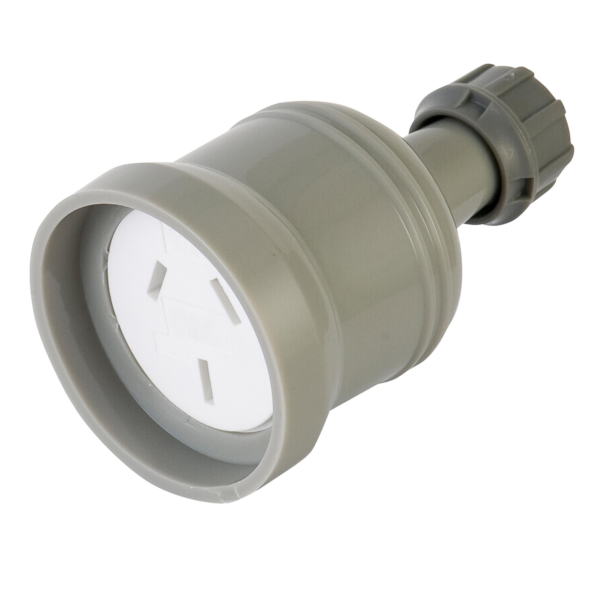 Deta 10a grey extension socket
