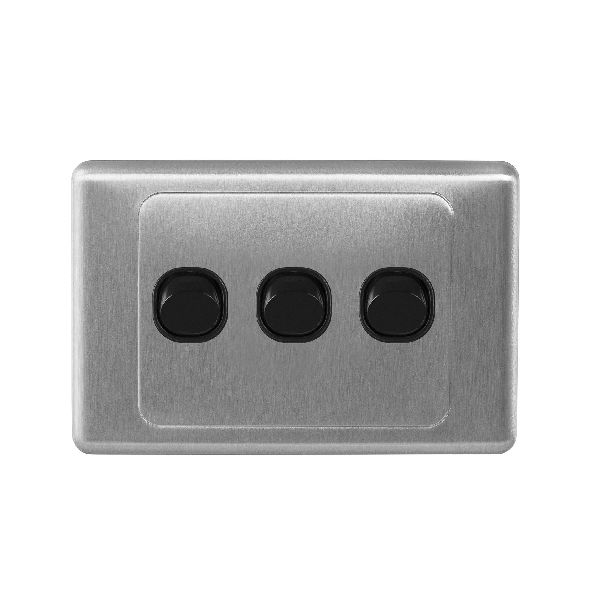 S-line s/steel triple switch