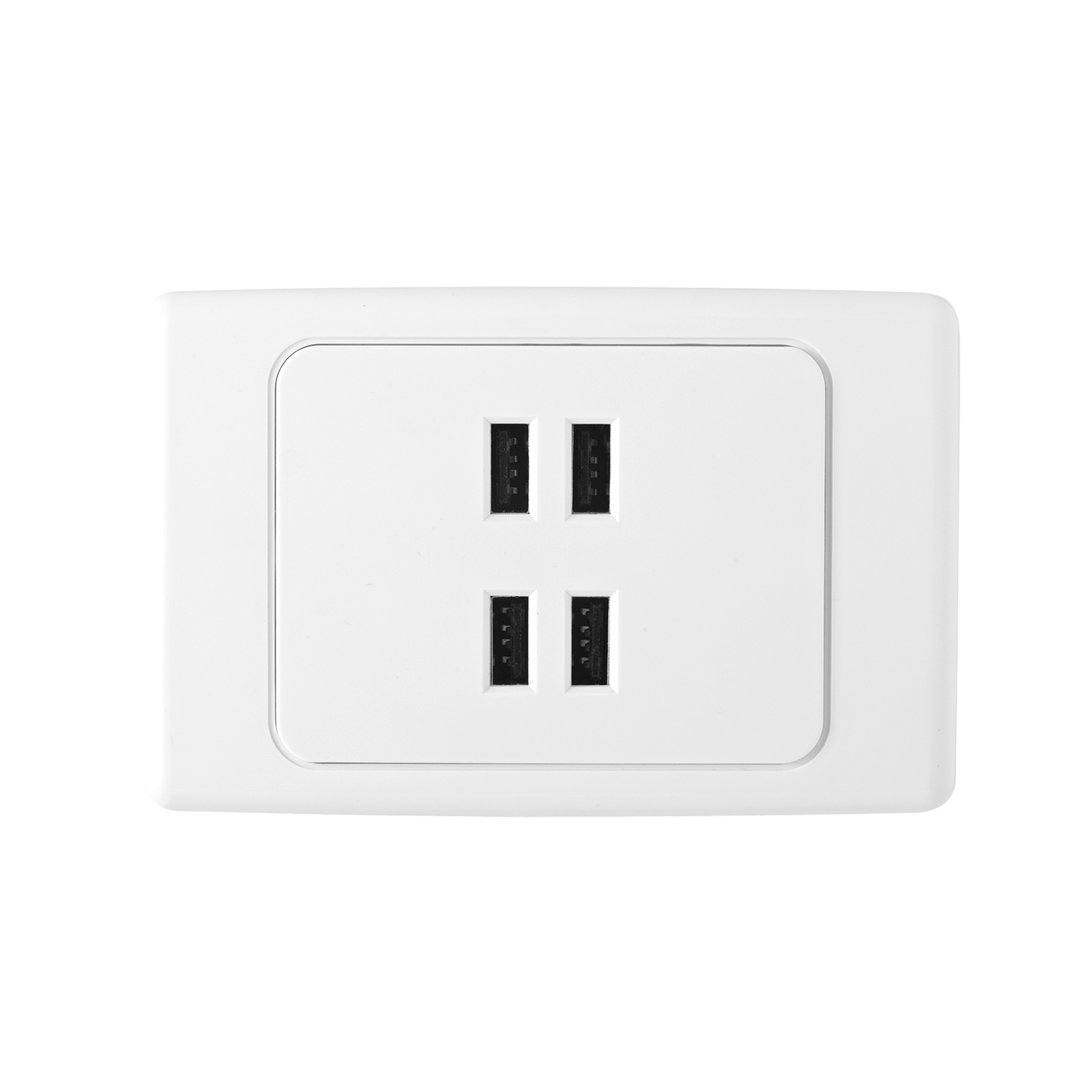 quad usb charger wall plate